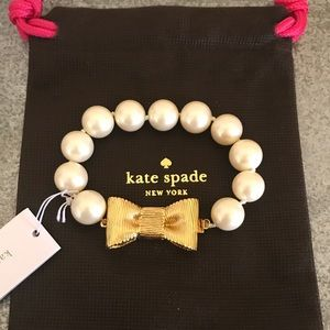 [Kate Spade] Pearls with a bow bracelet
